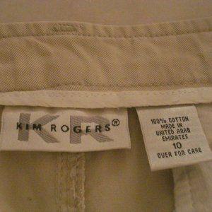 Kim Rogers  beige khaki long  skirt  Size 10